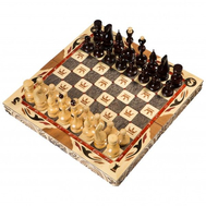 Шахматы резные ручной работы С Гербом малые, фото 1