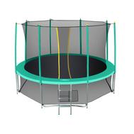 Большой батут на металлокаркасе - HASTTINGS CLASSIC GREEN 15FT, защитная сетка, лестница, мощные пружины, фото 1