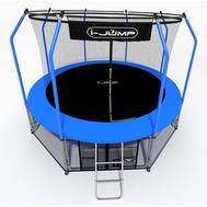 Каркасный батут для взрослых - I-JUMP ELEGANT 16FT BLUE, сетка, лестница, 108 пружин, фото 1