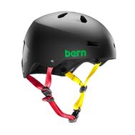 Шлем для водных видов спорта мужской Bern Macon H2O Matte Blk Rasta S19, фото 1